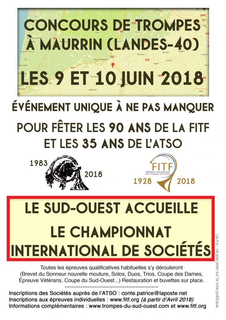 Timeline Championnat International Sociétés 2018 FITF Maurrin