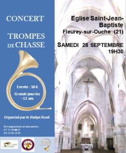 Concert région Bourgogne-Franche Comté, Fleurey-sur-Ouche (21) @ Eglise Saint Jean de Baptiste | Fleurey-sur-Ouche | Bourgogne-Franche-Comté | France