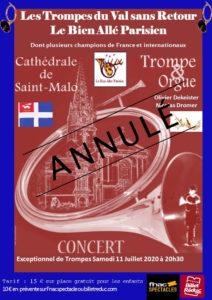 Concert région Bretagne, Saint Malo (35) @ Cathédrale de Saint Malo