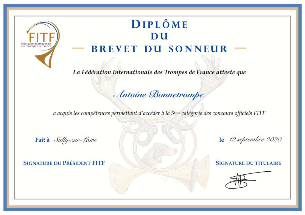 Relooking diplôme du brevet du sonneur