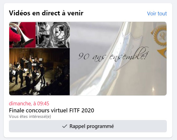 Finale concours virtuel en live !