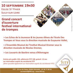 Concert d'ouverture festival international région Centre-Val de Loire, Sully sur Loire (45) @ Château de Sully-sur-Loire | Sully-sur-Loire | Centre-Val de Loire | France