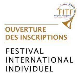 Inscriptions festival international